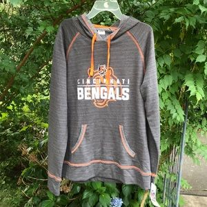 NWT NFL Cincinnati Bengals Gray Hoodie Sweat Shirt